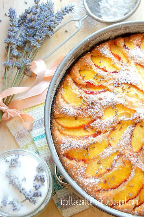 Nectarine Lavender Cake