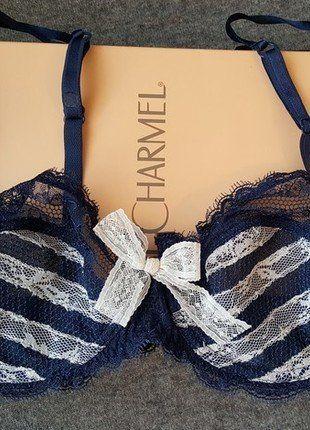 Kupuj mé předměty na #vinted http://www.vinted.cz/damske-obleceni/podprsenky/14155304-modrobila-krajkova-podprsenka-lise-charmel-75b