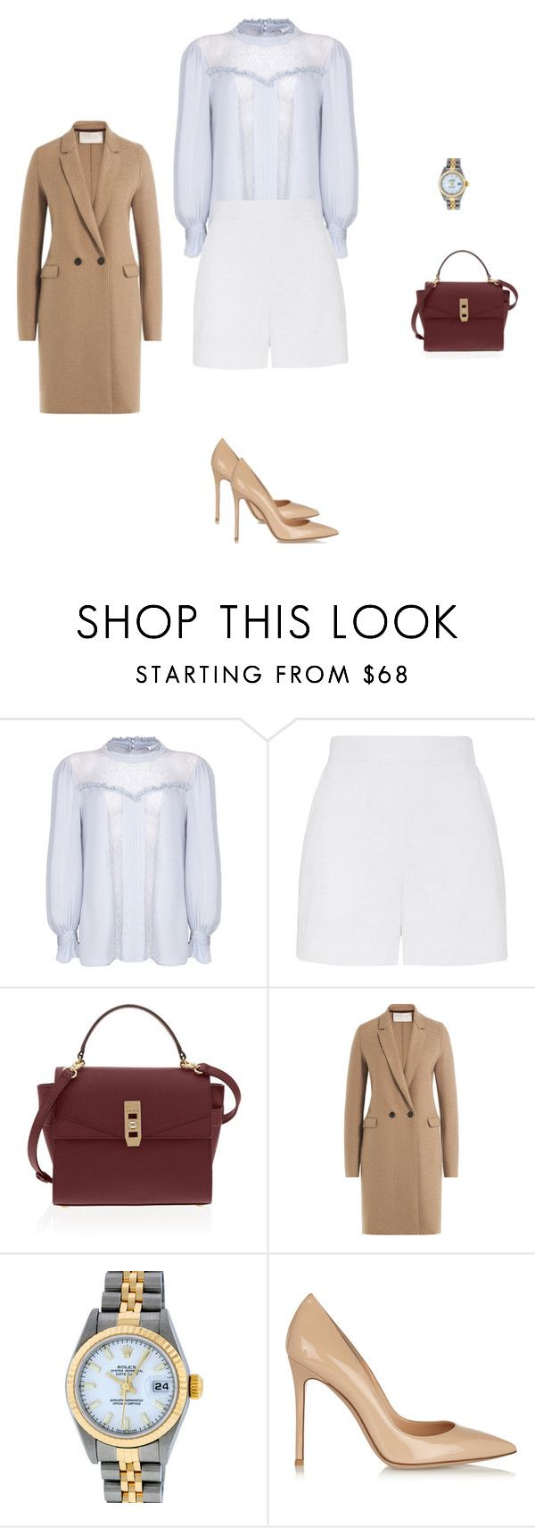 """""""Untitled #4268"""" by explorer-14576312872 ❤ liked on Polyvore featuring Ghost, Henri Bendel, Harris Wharf London, Rolex and Gianvito Rossi"""