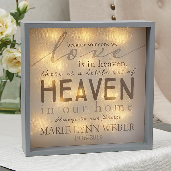 Heaven In Our Home 10x10 Custom Led Light Shadow Box Diy Shadow Box Shadow Box Shadow Box Art