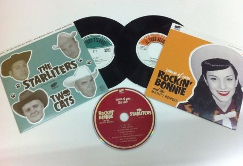 Rockin' Bonnie & The Mighty Ropers AND  The Starliters Fantastic Pack of 2 singles & a CD