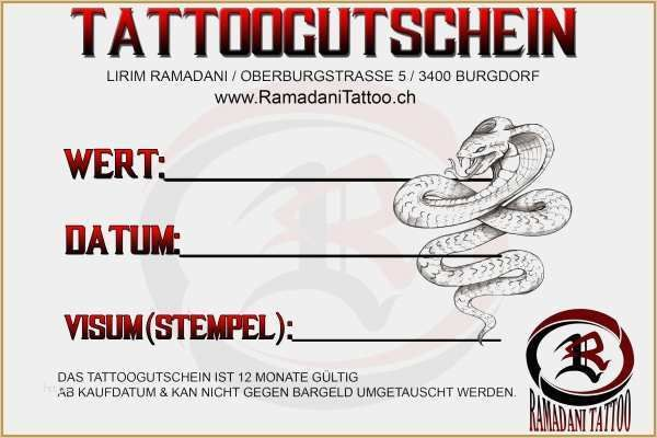 Genial Tattoo Gutschein Vorlage Zum Ausdrucken Bilder In 2020 Gutschein Vorlage Geschenkgutschein Vorlage Vorlagen