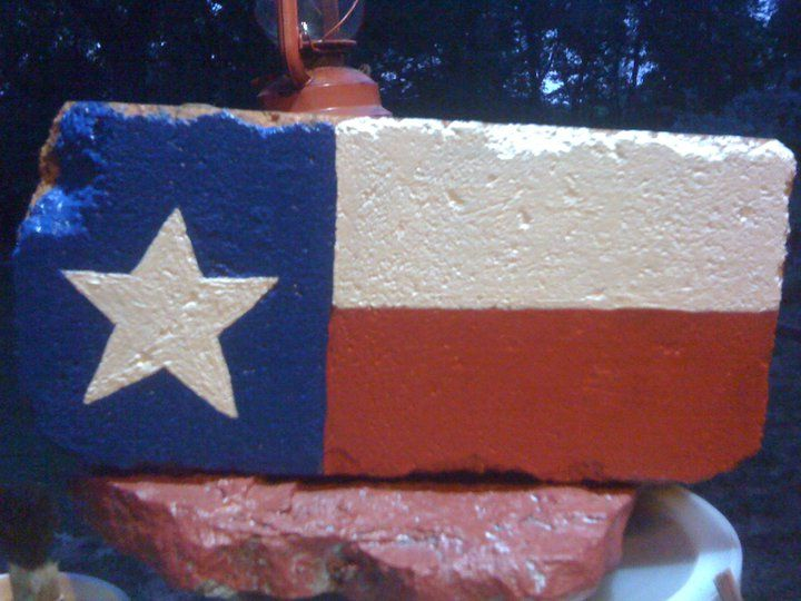 Painted brick for my garden
