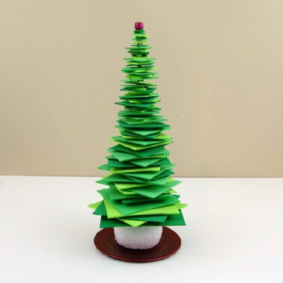 how to make a christmas tree out of styrofoam