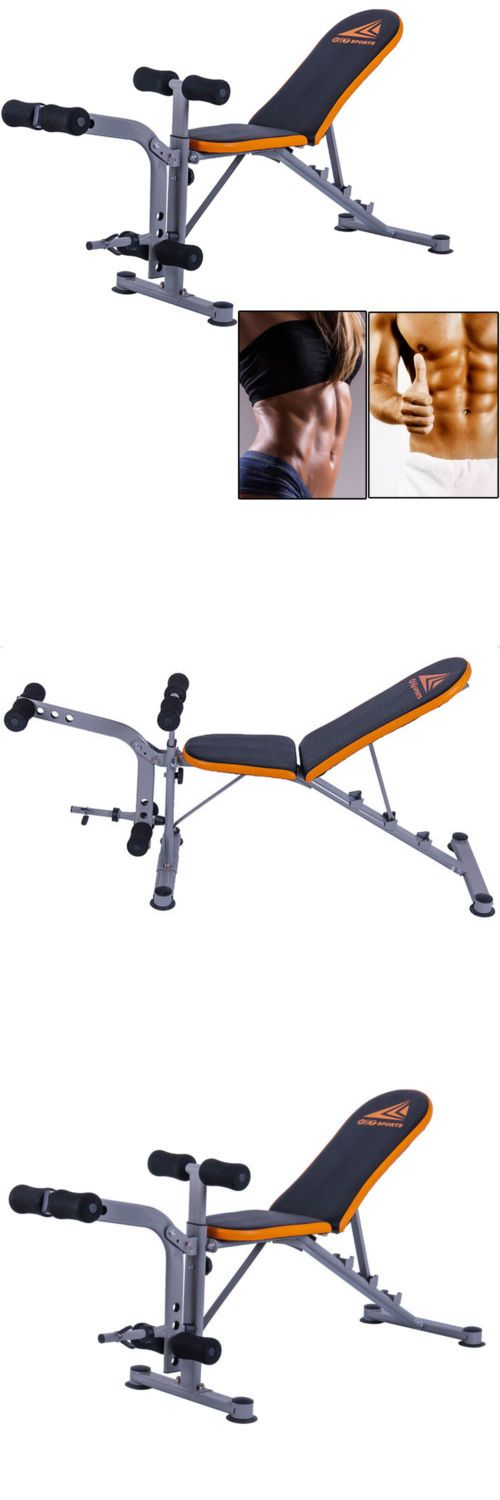 Bench Press Abs Part - 24: Benches 15281: Adjustable Weight Bench Exercise Lifting Abs Workout Incline  Flat Decline Press -u003e