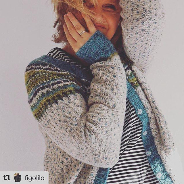 Love this picture by @figolilo - and her Flea cardigan i Rowan felted tweed. #fleacardigan #damejakkaloppa #norskdesign #wool #woollove #ull #rowanfeltedtweed #strikking #knitting