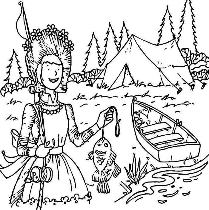 Free Camping Coloring Pages Printable (With images