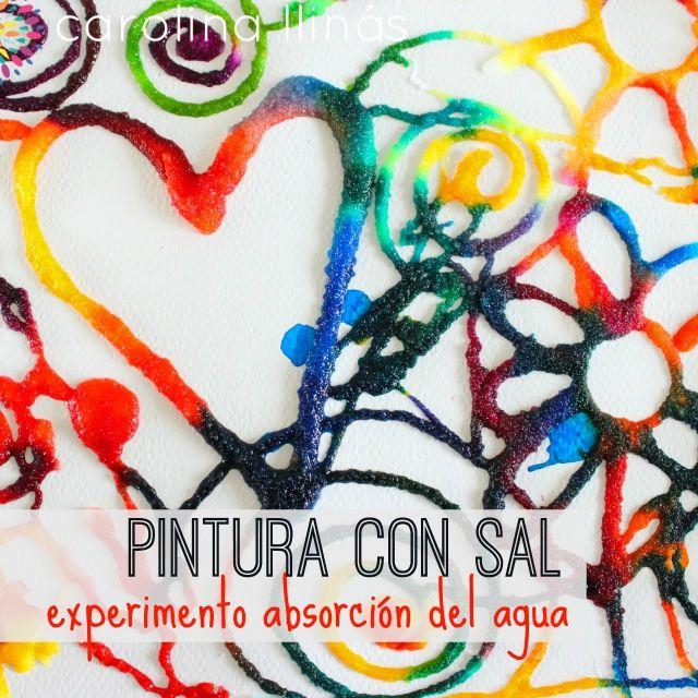 arte-para-ninos-experimentos-caseros-sal-colores-absorcion-del-agua