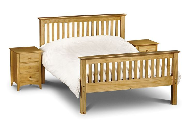 Bonsoni Berlin Bed Pine 5ft King Size Bed Frame High Foot End  Substantial posts and capping combine with a solid pine slatted base to ensure an incredibly robust and durable bed frame.   https://www.bonsoni.com/berlin-bed-pine-5ft-king-size-bed-frame-high-foot-end
