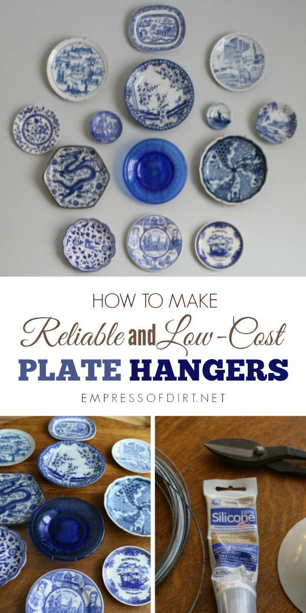Easy To Make Plate Hangers For Displaying Decorative Plates On A