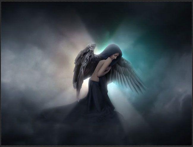 Создаём сцену с ангелом в Фотошоп