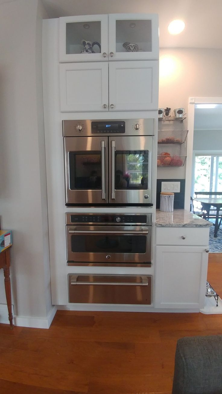 Modified Kraftmade Wall Oven Cabinet Allowed For Ge Cafe