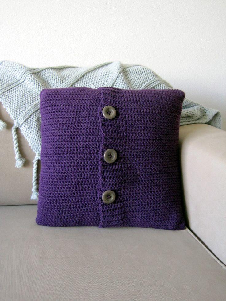 Crochet Button Pillow Free Crochet Pattern Crochet