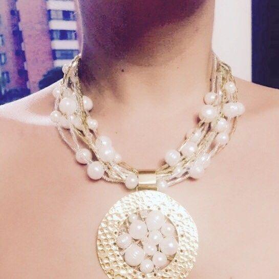 """Gargantilla de #perlas #mandala ele airada por nuestros joyeros en #Bucaramanga """"Ven y llévate lo mejor de Colombia"""""""