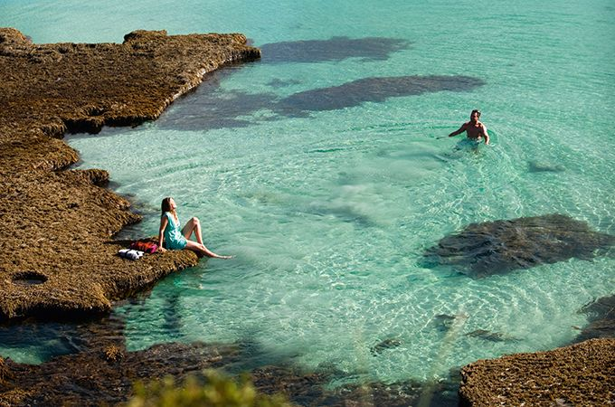 Swimming at Vivonne Bay, photo: South Australian Tourism
