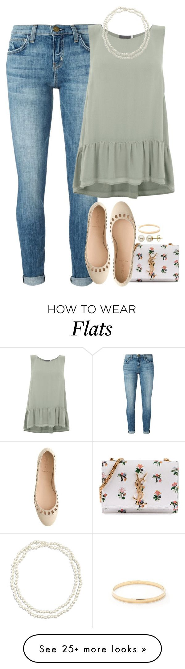 """""""Hello. It's me."""" by meljordrum on Polyvore featuring Current/Elliott, Mint Velvet, Yves Saint Laurent, Chico's, Kate Spade, J.Crew and Lord & Taylor"""