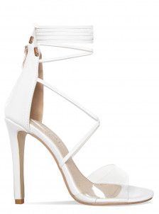 Terri White Clear Lace Up Heels Lace Up Heels