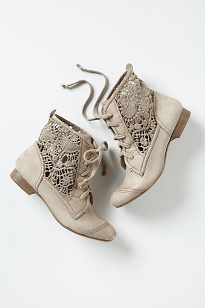 irene lace booties / anthropologie