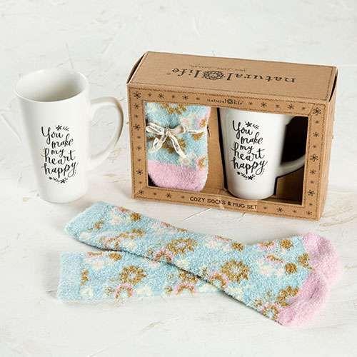 Mug & Cozy Socks Gift Sets - Give Cozy with our Mug & Sock Gift Set…