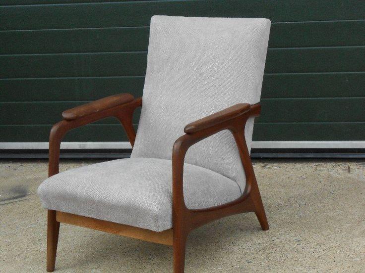 Mooie Webe Louis Van Teeffelen Vintage Retro Design Fauteuil te Koop Aangeboden op Tweedehands.net