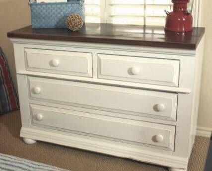 painting dressers white | dresser photo found here
