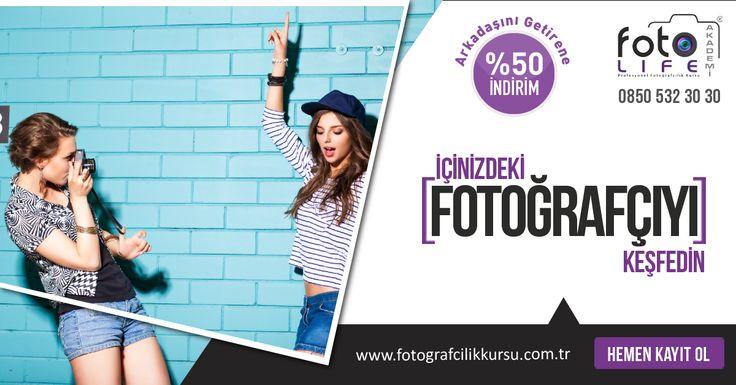 Arkadaşını Getir, %50 İndirimi Kap! Fotoğrafçılık Eğitimleri İle Dostluğunuzu Ölümsüzleştirin… http://www.fotografcilikkursu.com.tr/arkadasini-getir-50-indirimi-kap/  #fotoğrafçılıkkursukampanyaları #fotoğrafçılıkkursukampanya #fotoğrafçılıkkursu