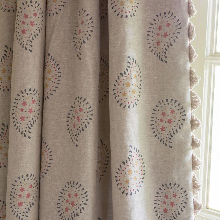 Perfect Fabric 351   Linen/ Malathi   Graphite | Susie Watson Designs