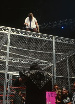 Mick Foley, as Mankind, faced The Undertaker in one of the most legendary Hell in a Cell matches at the Pittsburgh Civic Arena in 1998. Long Island native Foley's 20-foot fall from the cell onto the Spanish announce table is one of the most memorable moments in WWE history.