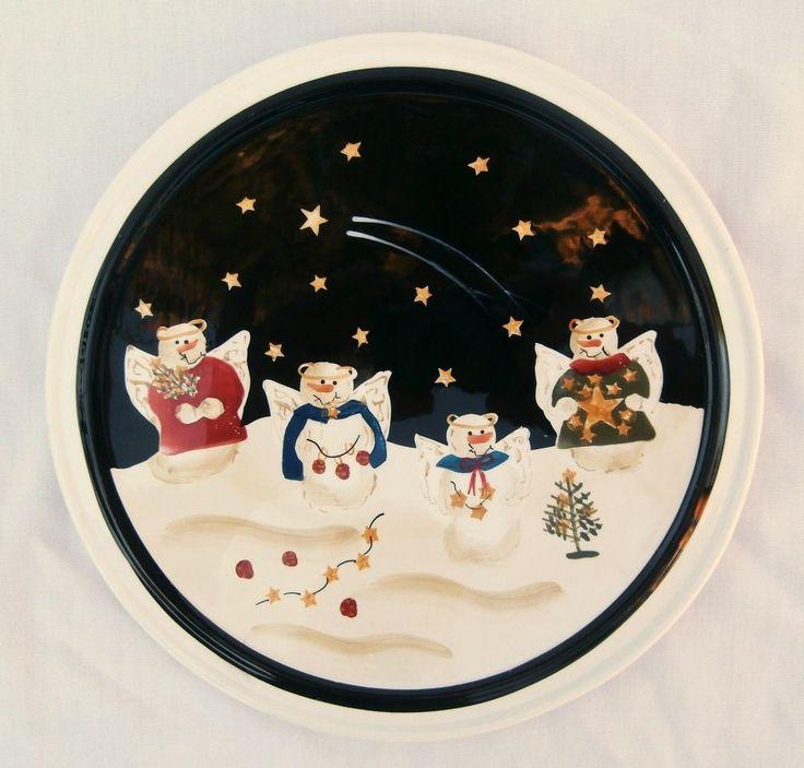 Sonoma Life Style Angel Snowman trivet Cheese plate Christmas  #Sonoma
