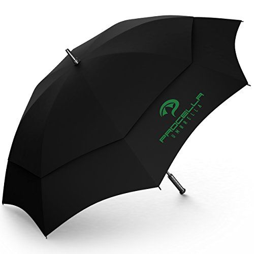 UK Golf Gear - Golf Umbrella 62 Inch Windproof Automatic Vented Light, For Men & Women The Best on Amazon Stormproof, by Procella Umbrella