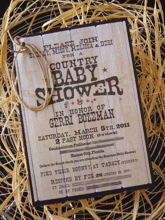 Superior Crazy For Design: Country Theme Baby Shower Revealed