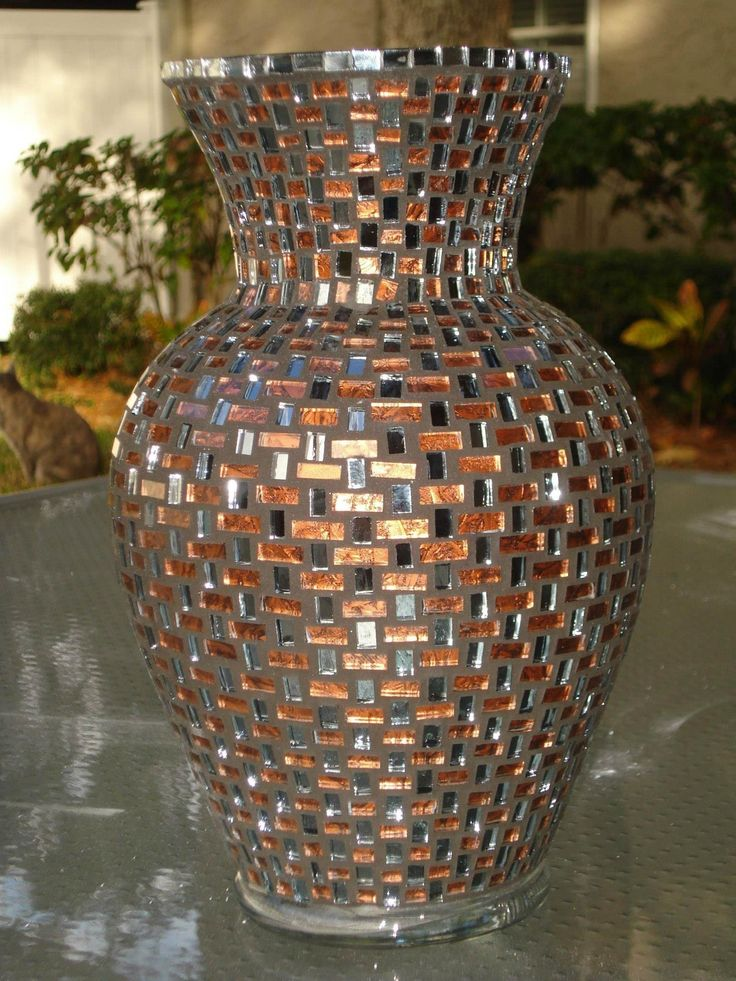 I took a class with the master mosaicist Tom Snyder of Designer Mosaics in Charlotte, specifically to learn this technique......there approx 1500 hand cut pieces of glass, Van Gogh glass in bronze and smoke....my favorite....