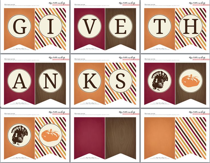 free-thanksgiving-banner and other super cute matching printables