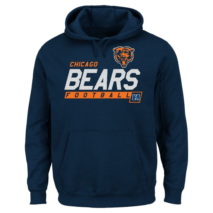Chicago Bears Men's Big & Tall Team Pride Fleece Pullover Hoodie Sweatshirt - 1XL Tall