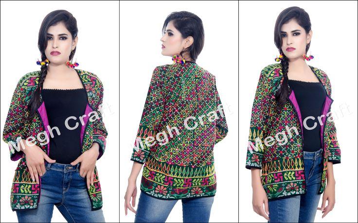 Traditional Jacket / Banjara Jacket / Gypsy Jacket / boho jacket / India Embroidered Jacket / kutchi Jacket/  Tribal Mirror Work Jacket / BY#craftnfashion #meghcraft #vintagecraft #indiancrafts#indianethnic