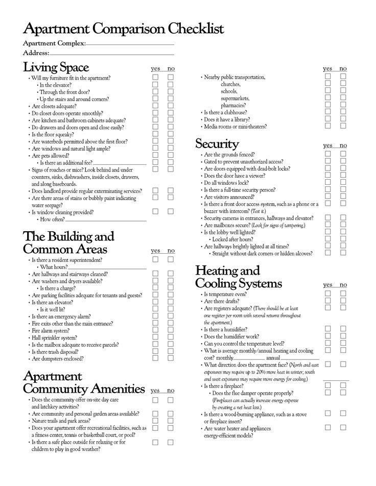 17 best ideas about college apartment checklist on