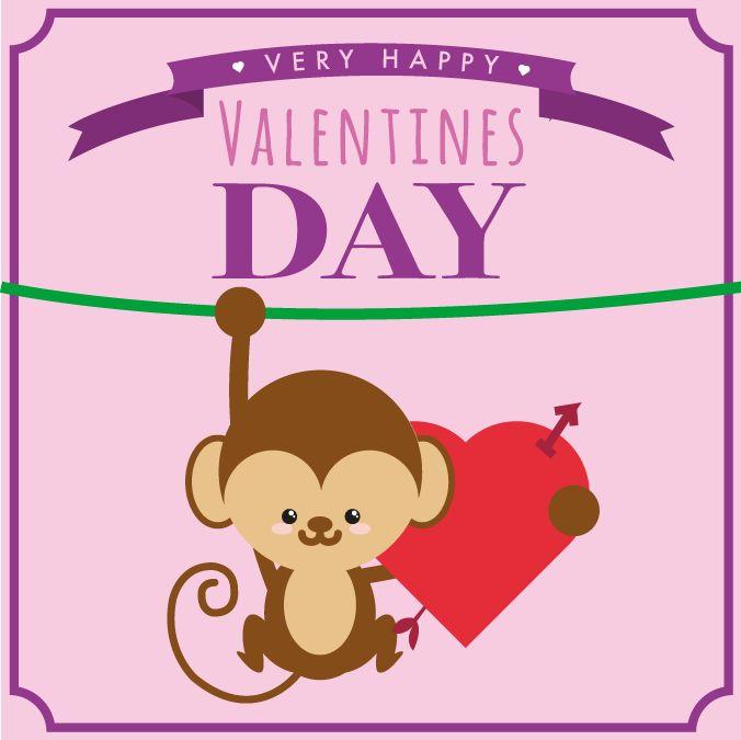Valentines Day Monkey Heart – Freemocks