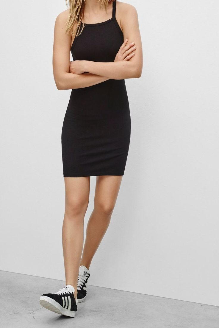 Black dress with black shoes - Find This Pin And More On Fashion Black Slip Dress