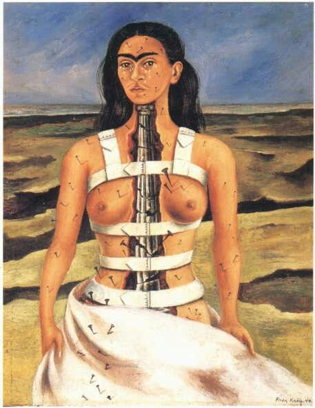 The Broken Column - Frida Kahlo, whose work, now on exhibit at the Philadelphia…