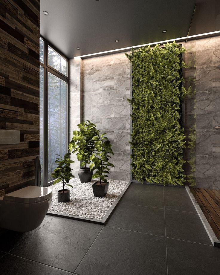 36 moderne graue & weiße Badezimmer, die Geist und Seele entspannen