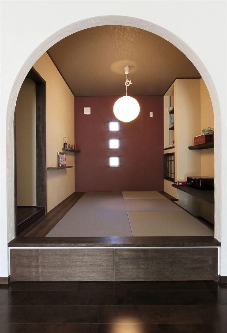 和室/畳スペース/小上がり/アーチ/インテリア/注文住宅/施工例/ジャストの家/japanese room/interior/house/homedecor/housedesign
