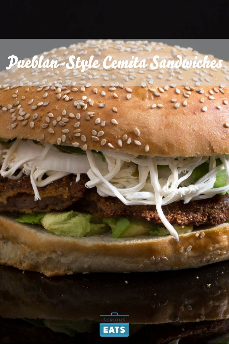 Cemitas are a Mexican sandwich that originally hails from the State of Puebla and gets its name from the bun itself, also known as a cemita. This recipe shows you how to make a Pueblan-style cemita with a fried milanesa beef, chicken, or pork cutlet filling.