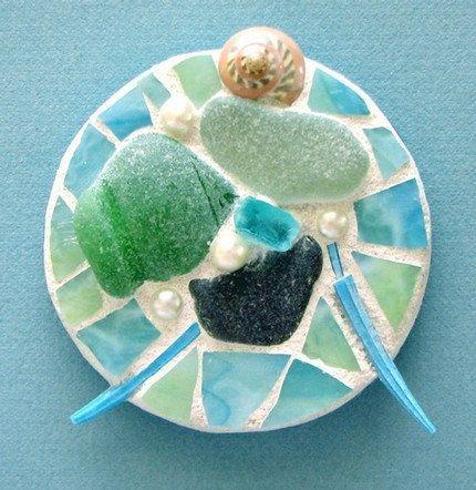 sea glass crafts | sea glass magnet - DIY? How cute. | Sea Glass Crafts