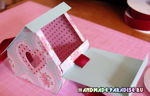 Скворечник из бумаги - подарочная упаковка для конфет (3)