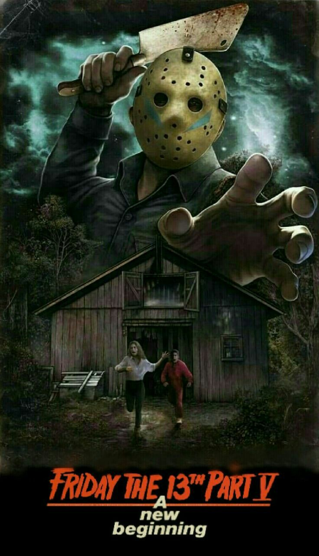 Friday the 13 part 5 horror movie poster Slasher