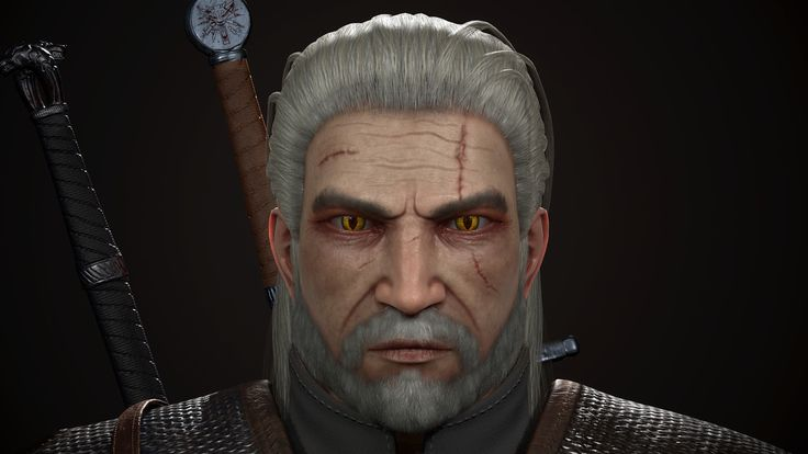 The witcher3 Geralt of Rivia, Sung Jae Park on ArtStation at https://www.artstation.com/artwork/DV9k9