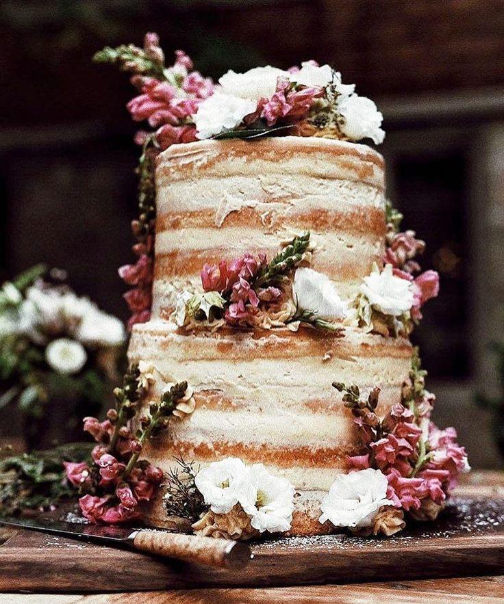 Follow @cake_wedding for amazing cake insp Photo @bouchebakery #nakedcake #nakedcakes