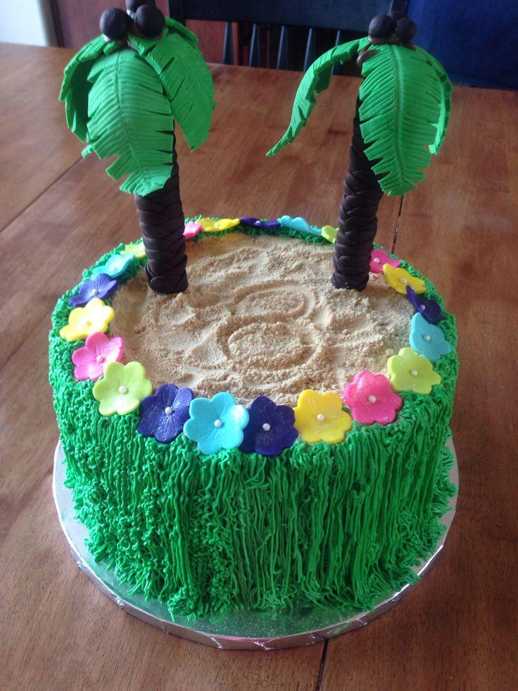 Luau a Birthday Cake