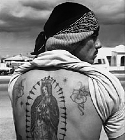 124 best guadalupe tattoos images on pinterest for Mexican prison tattoos