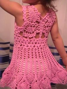 Crochet Butterfly Dress with charts